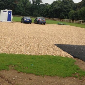 Temporary gravel carpark