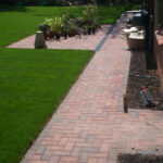 Block paved footpath