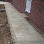 Concrete footpath